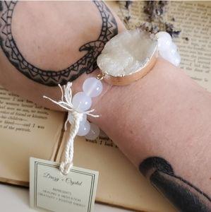 Arm Candy Chunky Gemstone Bracelet Gold NWT NIB